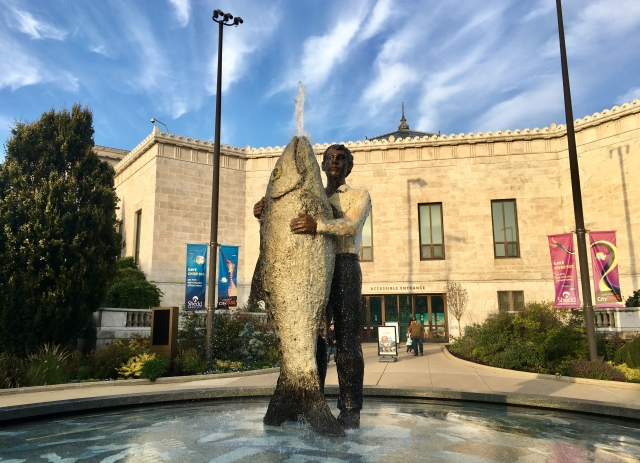 """Man with Fish"" fountain"